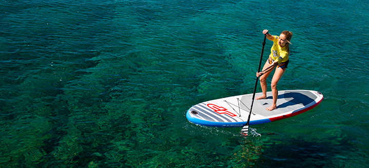 Stand up Paddling am See