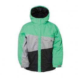 "686 Jungen Snowboardjacke ""Authentic Angle"" (L4W506) Farbe: Green Colorblock"